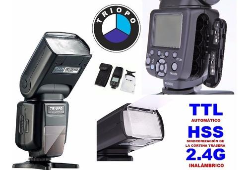 triopo tr982ll ttl hss 2.4g speedlite flash nikon fotografía