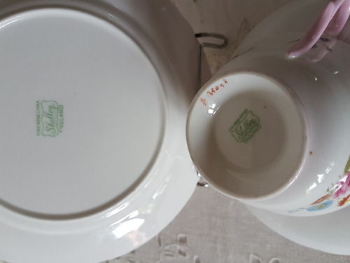 trios de porcelana inglesa. shelley
