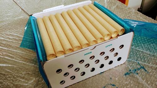 tripa artificial de colágeno p/ linguiça cal 22 kit com 10un