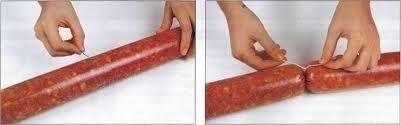 tripa artificial de colágeno para salame calibre 45 - 10 m