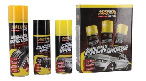 tripack silicona, cera 450cc mas ren. de neumáticos 650cc mo