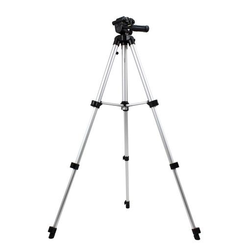 tripé aluminio profissional até 1,20m p/ binoculo e camera