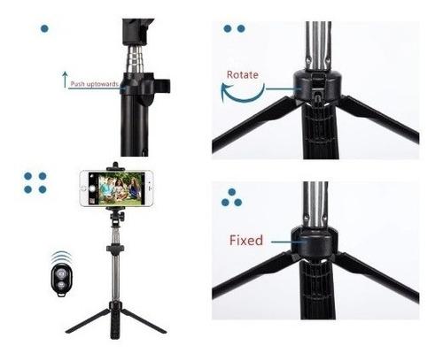 tripe bastão pau de selfie para celular camera gopro