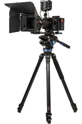 tripé benro a373fbs8 p/ vídeo c/ cabeça hidráulica s8 p/ 8kg