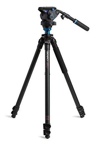 tripé benro vídeo a2573fs6 p/ 6kg c/ cabeça hidráulica 1,78m