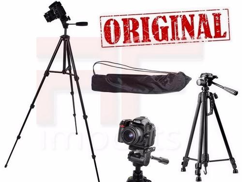 tripé binóculo profissional preto original até 1,50 mts case
