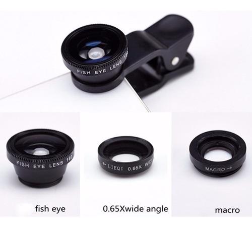 tripe camera celular bluetooth kit lentes fisheye tr 551