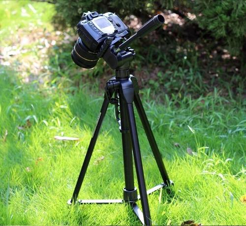 tripé câmera profissional canon 1,80 mts + suporte celular