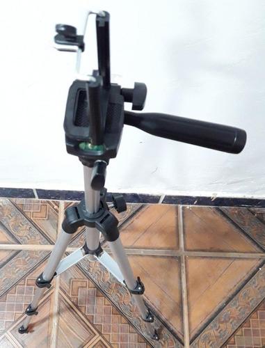 tripé de alumínio flexível para câmera digital e celular