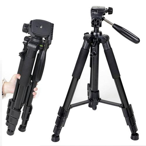 tripé de alumínio preto para câmeras