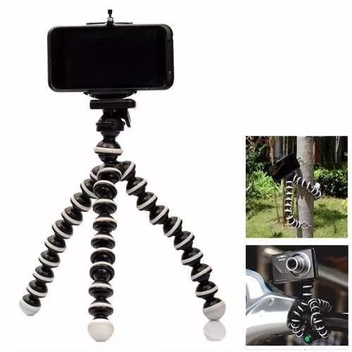 tripé flexível gopro tripod suporte celular acessório câmera