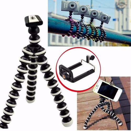 tripé flexível gorilapod tripod para gopro e sup. celulares
