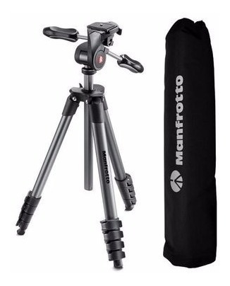 tripé manfrotto compact advanced mkcompactadv-bk