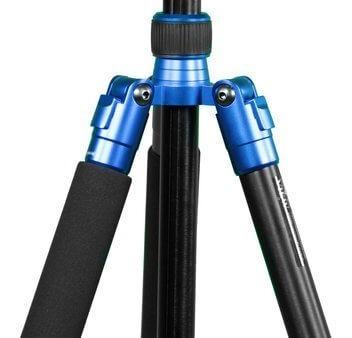 tripé / monopé profissional com cabeça ball head para até 6kg (azul) - com bolsa de transporte inclusa worldview