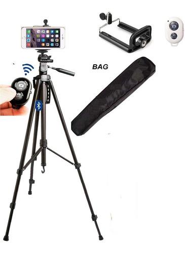 tripe p/ camera c/ bluetooth adaptador celular iphone galaxy