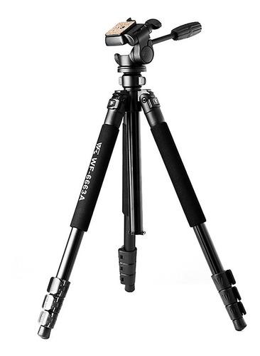 tripé p/ câmeras weifeng 167cm wf6663a c/ cabeça hidráulica
