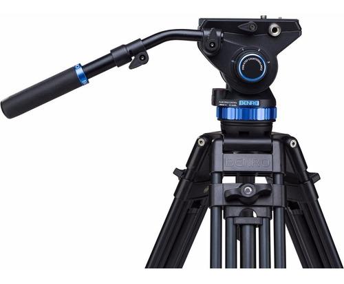 tripé p/ vídeo benro a573tbs8 c/ cabeça hidráulica s8 p/ 8kg
