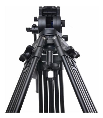 tripé profissional video kh25n benro 5kg cabeça hidráulica