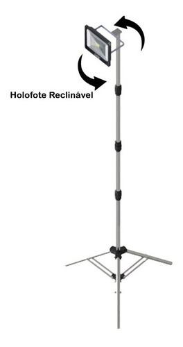 tripé reclinável c/ holofote 50w refletor iluminação led