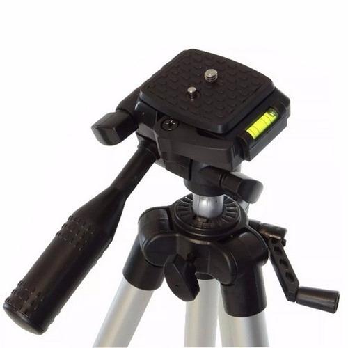 tripé telescópico profissional sl-211 1,30 + suporte celular