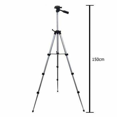 tripé telescópio universal câmera celular 150cm + frete