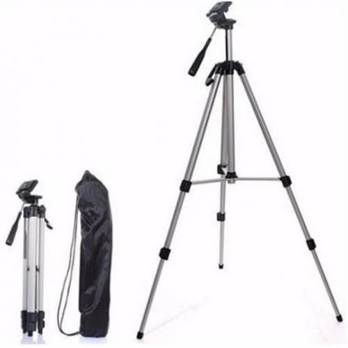 tripé telescópio universal câmera celular alumínio 150cm slr