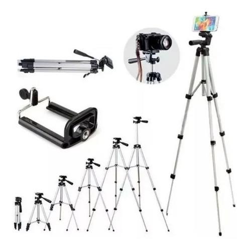 tripé universal 1,20mt suporte para celular câmera bolsa