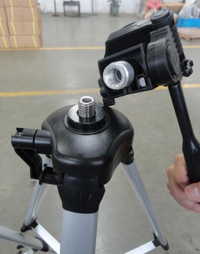 tripé universal fotográfico profissional 1,5m p trena laser