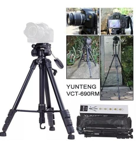 tripe yunteng modelo vct 690 hidráulico profissional