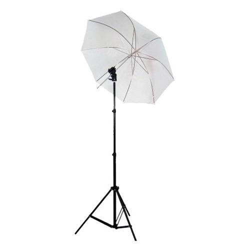 tripie de iluminacion con soporte para flash y sombrilla