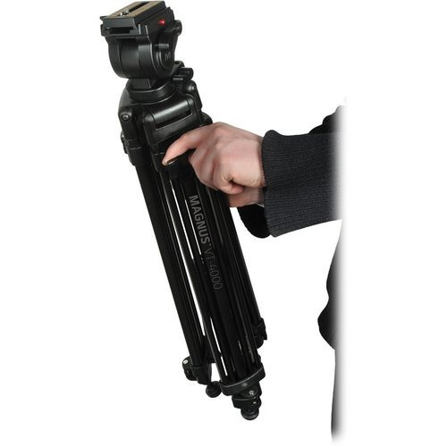 tripie p/ video cabezal fluido magnus vt-4000 carga 4kg mn4