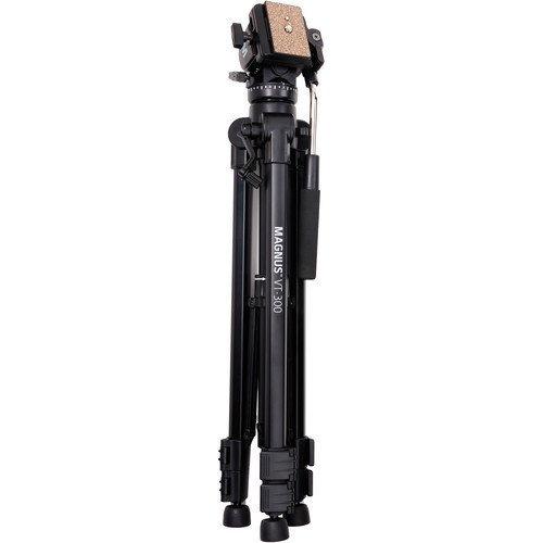 tripie para video cabezal fluido magnus vt300 carga 7kg