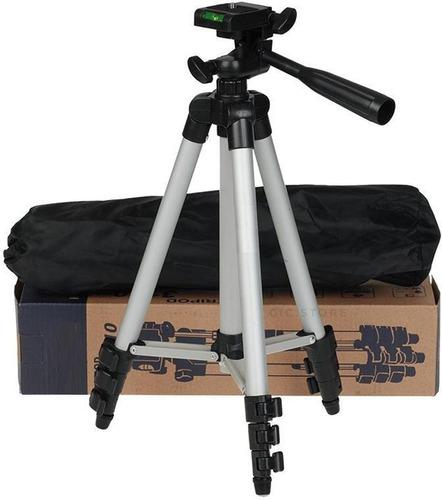 tripie universal de aluminio ligero palanca cámara o celular