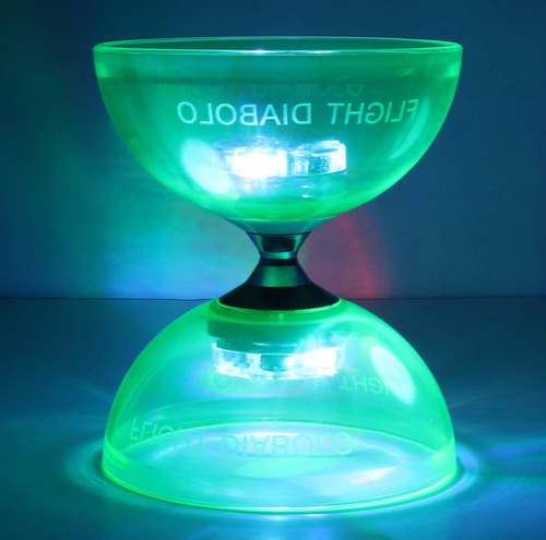 triple bearing led light up diabolo profesional  juguet...
