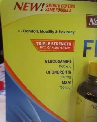 triple flex glucosamina 1500 mg chondroitrin 800 mg msn 750