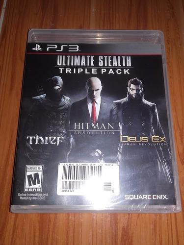 triple pack sellado juego ps3 hitman thief deus ex