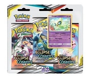 triple pack sl12 eclipse cósmico - celebi e victini