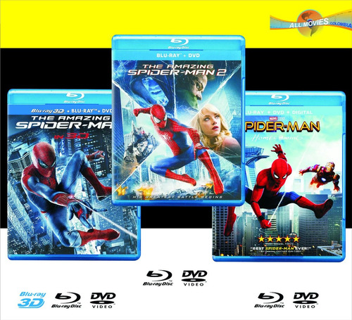 triple pack spider-man 3 películas originales!!