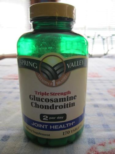 triple strength glucosamine chondoitrin marca spring valley