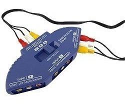 triplicador y derivador rca audio video p/ cable tv ps2 wii