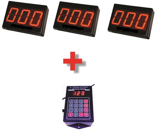 triplo painel de senha aleatório 3 digitos espelho teclado