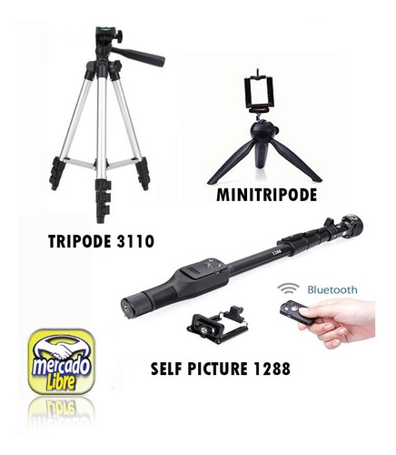 tripode 3110+monopod1288+control bt+minitripod envio gratis