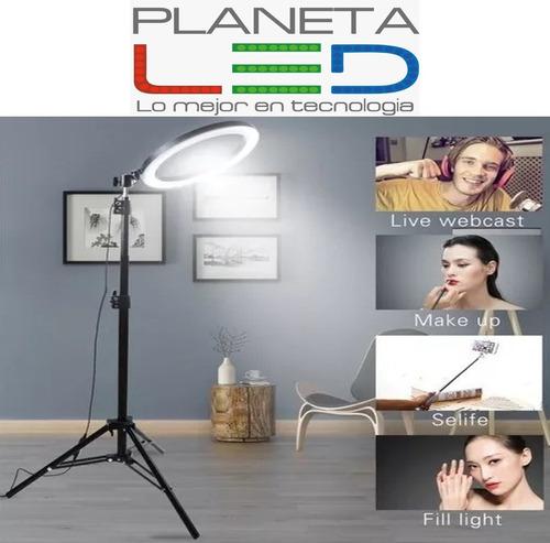 tripode aro luz led para fotografía profesional 3 tonalidad