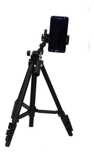tripode benro p/ foto + adaptador celular smartphone 143,5cm