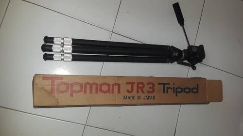 trípode cámara aluminio marca topman