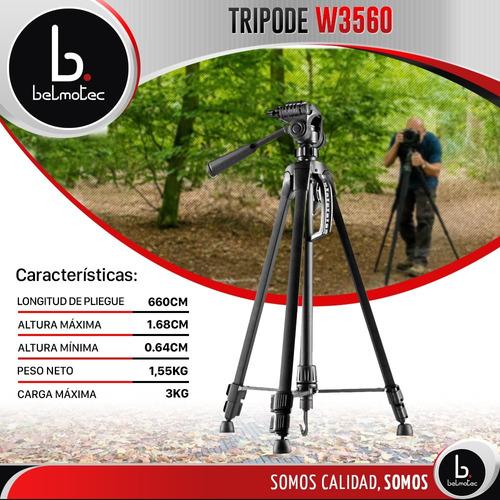 tripode camara de fotos fotografia filmadora 1.7m + estuche