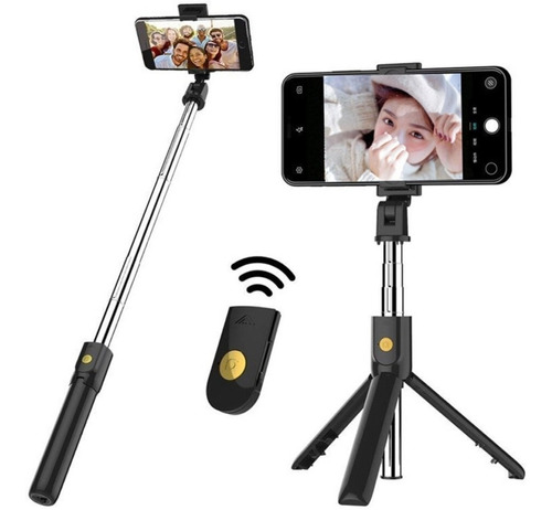tripode celular selfie stick monopod baston palo bluetooth