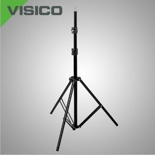 tripode columna pie iluminación estudio c/freno 1,90m visico