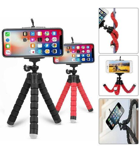 trípode con soporte para teléfono de pulpo flexible selfie