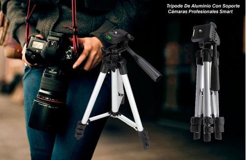 trípode de aluminio con soporte  cámaras profesionales smart